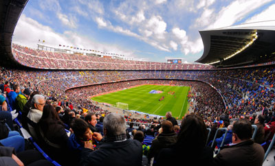 Camp Nou w Barcelonie