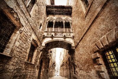 Dzielnica Gotycka w Barcelonie