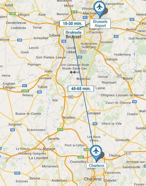 Dojazd z lotniska do Brukseli
