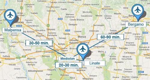 Lotniska w Mediolanie