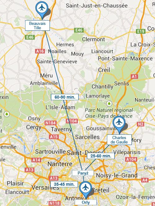 Dojazd z lotniska do Paryża