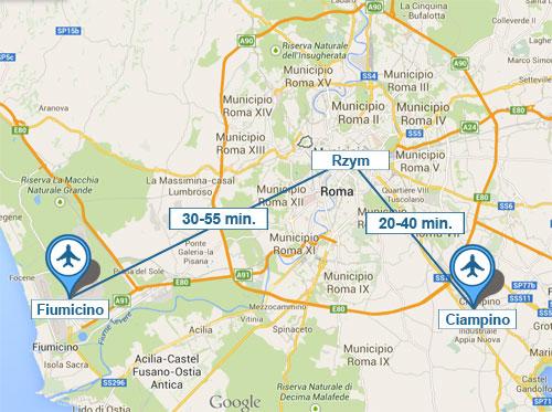 Dojazd z lotniska do Rzymu