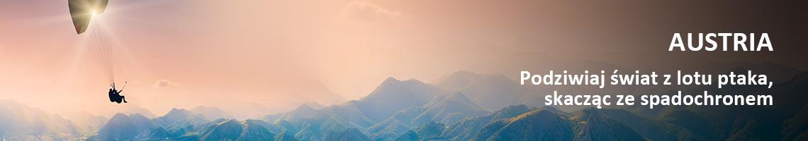 Austria - Podziwiaj świat z lotu ptaka, skacząc ze spadochronem