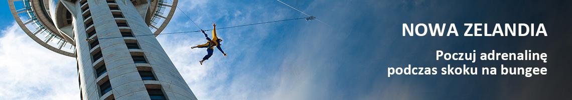 Nowa Zelandia - Poczuj adrenalinę podczas skoku na bungee